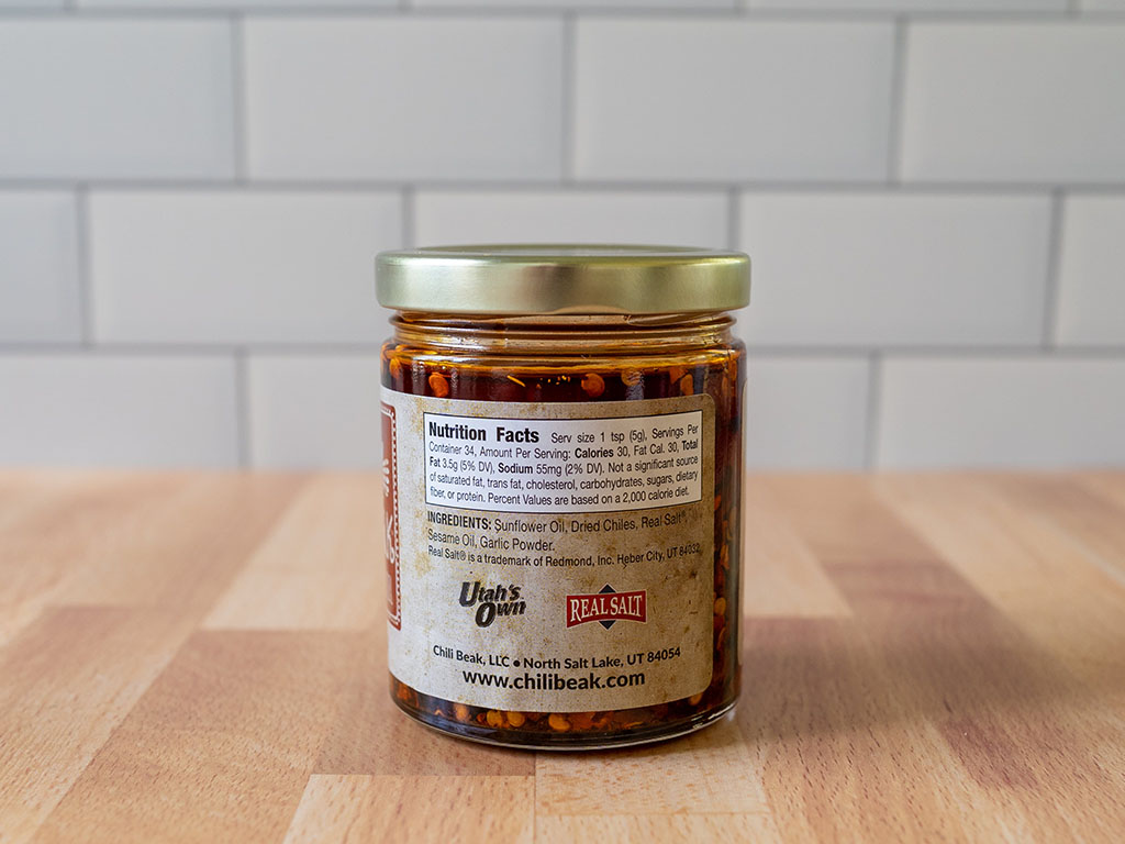 Chili Beak Spicy Roasted Chili Oil ingredients
