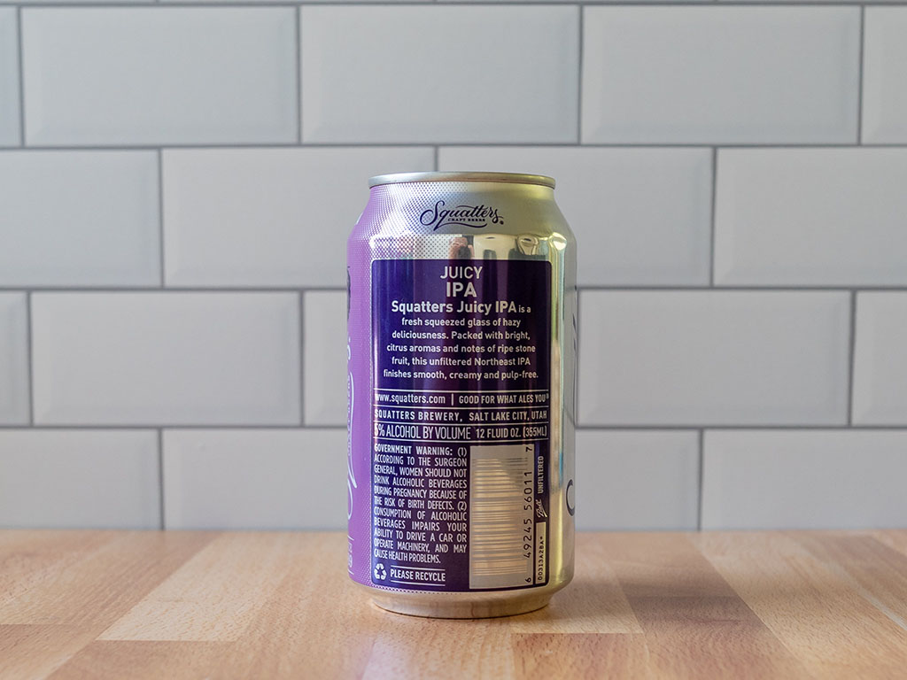 Squatters Juicy IPA can back