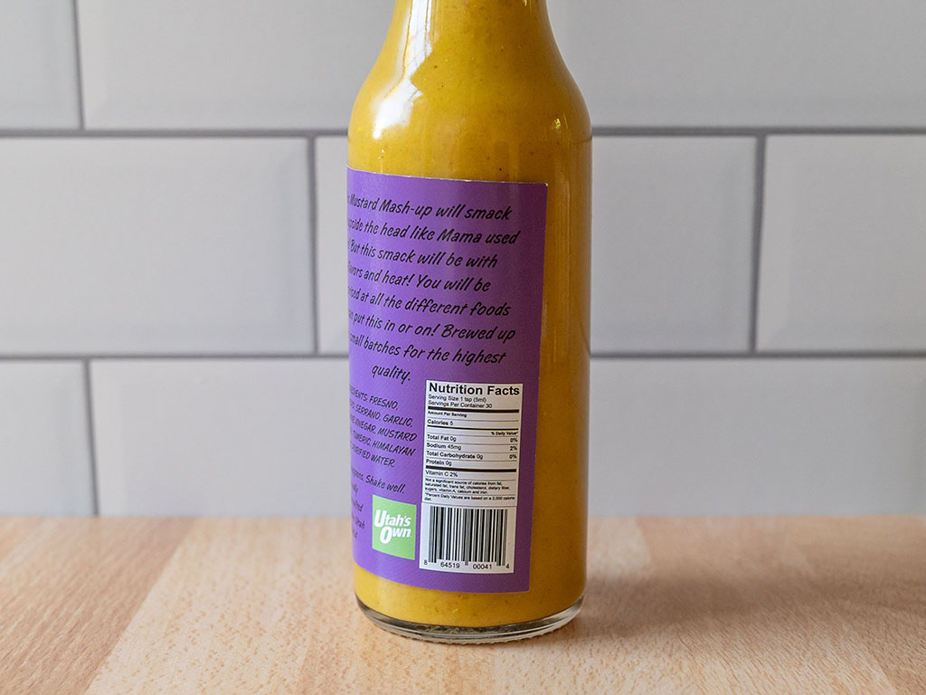Z's Original Mustard Hot Sauce nutrition